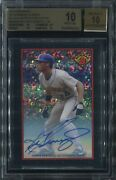2014 Bowman And03989 Bowman Is Back Auto Black Refractor Ken Griffey Jr /25 Bgs 10