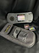 Vintage Atari Lynx Console Pag-0201 And 3 Games -read Description Tested Working
