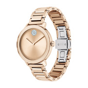 New Movado Womens Bold Evolutions Rose Gold Ion-plated Stainless Steel Watch