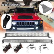 For 06-10 Hummer H3 32 Bumper + Roof 52and039and039 Curved Led Light Bar Mounts Wire Kit