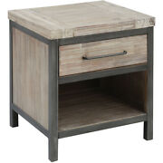 Stein World 17363 Cork County 22 X 19 Inch Atlantic Brushed Accent Table