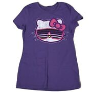 Old Navy Collectibles Size Small Hello Kitty Sunglass Sanrio Purple Graphic Tee