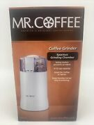 Mr. Coffee Espresso Bean Coffee Grinder Ids55 White Spacious Grinding Chamber