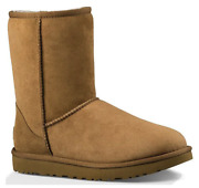 Ugg Classic Short Ii Chestnut Brown Suede Fur Boots Womens Size 7