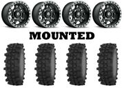 Kit 4 Frontline Acp Tires 32x10-15 On Fuel Anza Matte Black D557 Wheels Can
