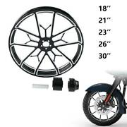 18/21/23/26/30and039and039 X3.5and039and039 Front Wheel Rim Hub Single Disc For Harley Touring 08-21