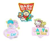 Sanrio Hello Kitty Baby In Car Safety Sign Swing Decals Child Cars Accessories