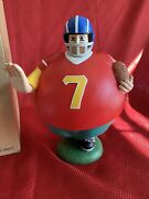 Dept. 56 Time To Celebrate Football Man 7 Super Bowl Sport Christmas Candy Dish