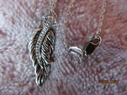 """Bradford Exchange """" When Angels Are Near """" Sterling Silver Diamond Necklace Vgc"""