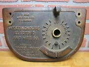 Westinghouse Controller Antique Street Car Trolley Bronze Panel Sign Pat 1890s