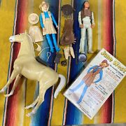 Jane West Doll Horse Indian Chief Accessories Original Box Marx Movable Cowgirl