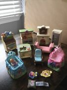 Fisher Price Mattel Loving Family Dollhouse Lot Collectible