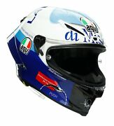 Agv Pista Gp Rr Le Valentino Rossi Misano And03920 Motorcycle Helmet Blue/white