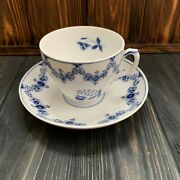 Rare Royal Copenhagen Early Blue Fluted 1/7056 Queen Louise Archive Cup Antique