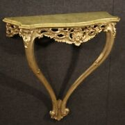 Wall Console In Lacquered And Gold Wood Furniture Antique Style Table 900