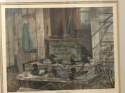 Framed Bill Rose Print Signed Duck Decoys Weight Signed Numbered St. Clair Flats
