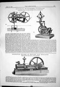 Old Print 1883 Automatic Water-wheel Governors King Engine Hayward Tyler 19th