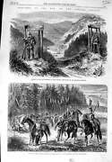 Old Antique Print 1866 War Outpost Prussian Grenadiers Lancers Bohemian 19th