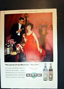 Antique Old Print Martini Sweet Or Dry Bergermaster Perfect Paint Finish 1958