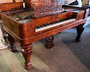 1859 Steinway Square Grand Piano Rosewood Restored With Millsaps Provenance