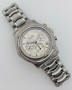 Ebel 1911 Chronograph Silver Dial Automatic Stainless Steel Box/papers 9137l40