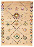 Hand-knotted Tribal Carpet 8and03911 X 12and0396 Traditional Vintage Wool Rug