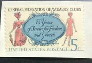 1316- 1966 5c Federation Women's Clubs Misperfs Top And Bottom Collectible Stamp