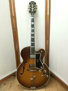 80 Year Epiphone Emperor Good Condition With Engraved Paf Genuine Hard Case
