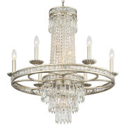 Crystorama 5266-os-cl-mwp Mercer Chandelier Olde Silver