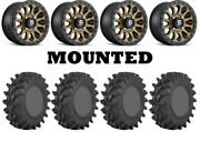 Kit 4 Sti Outback Max Tires 30x10-14 On Fuel Vector Bronze D600 Wheels Can
