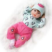 Reborn Baby Doll Cute Toys Girl Silicone Vinyl Lovely Cartoon Clothes Hot Sale