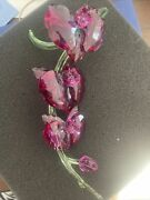 Crystal Orchids Flawless Figurine Guaranteed Authentic 5243561