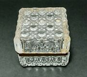 Beautiful Baccarat French Style Cut Crystal Jewelry Casket-box-piano Hindge