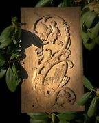Antique Oriental Wood Wooden Carved Chinese Dragon Design Wall Plaque