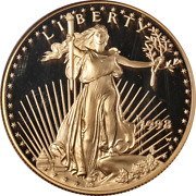 1998-w Gold American Eagle 50 Ngc Pf69 Ultra Cameo Brown Label - Stock