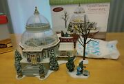 Retired Rare Dept56 Christmas In The City Crystal Gardens Conservatory Set W/box