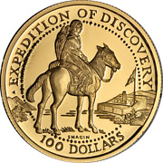 2005 Shawnee Tribe 100 Proof Gold - Lewis And Clark Expedition Of Discovery .9999