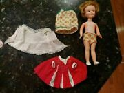 Vintage Penny Brite Doll 1963 Deluxe Reading Corp 8 Original Red Dress Extras