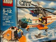 Lego City 7738 Coast Guard Helicopter And Raft Complete Box Manuals Minifigures
