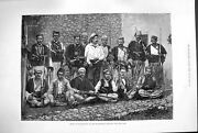 Old Antique Print 1880 Chiefs Miridites Montenegrin Frontier Weapons Art 19th