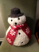 Pottery Barn Archie Snowman Shaped Pillow-nwt-brand New Sold Out Get It Here Now