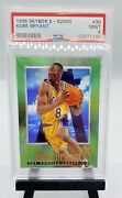 1996 Skybox E - X2000 30 Kobe Bryant Rookie Lakers Rc Psa 9 Recently Graded