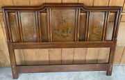 Vintage 1970andrsquos Drexel Heritage Dynasty Chinoiserie Asian Queen Size Headboard