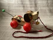 Fisher Price Vintage Little Snoopy 1965 Pull Behind Puppy Toy