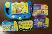 Leapfrog My First Leap Pad System Blue W/ 4 Books And 3 Cartridges