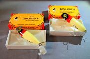 Lot Of 2 Luhr Jensen Nip-i-diddee And Bass Oreno Red And White Special Edition Lures