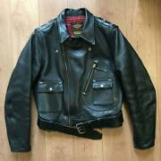 Real Mccoy's Harley-davidson Horsehide Leather Riders Jacket Men 40 From Japan