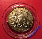 100 Roubles 2008 Russia Rare Protect Our World European Beaver Gold Unc