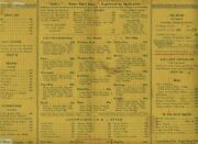 Green Hat's Menu / Placemat 1930's Registered By Mcdonalds Bepo Wooden Shoe