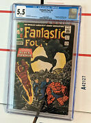 Fantastic Four 52 Cgc 5.5 1st Black Panther White Pages Tand039challa